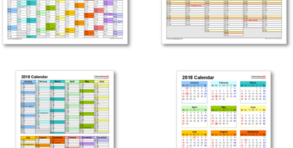 Vacation Spreadsheet Template 2018 Inside 2018 Calendar With Federal Holidays  Excel/pdf/word Templates