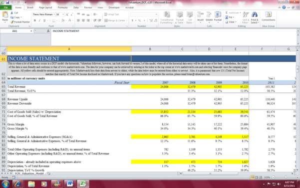 Valuation Spreadsheet Mckinsey Within Dcf Model Excel  Hashtag Bg