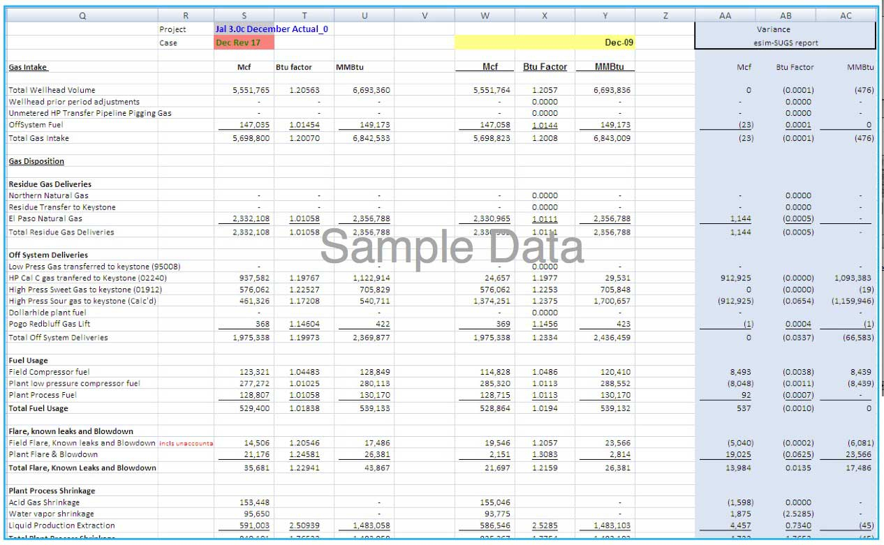 Variance Analysis Excel Spreadsheet In Managing And Optimizing Midstream Gross Margin Positions Using A