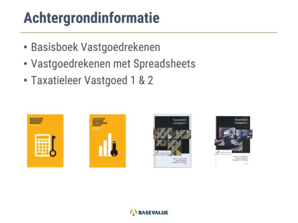 Vastgoedrekenen Met Spreadsheets Download For Integraal Vastgoedrekenen  Ppt Download