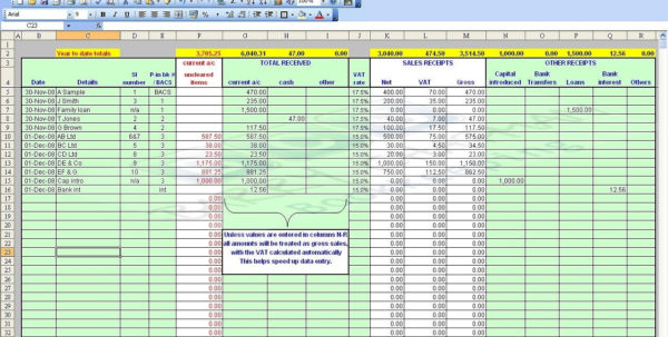 Vat Bookkeeping Spreadsheet Throughout Double Entry Bookkeeping Spreadsheet  Papillon Northwan Within