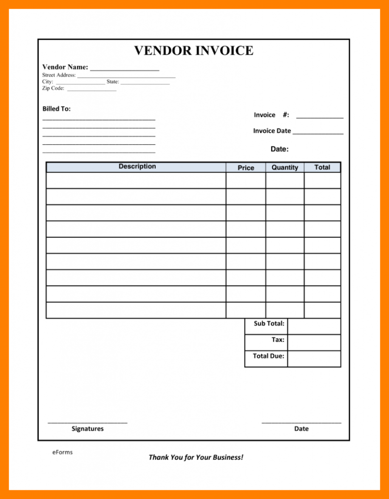 Vat Reconciliation Spreadsheet With Vendor Invoice Template Non Vat Form Monthly Service 9 Fillable