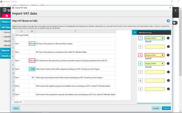 Vat Return Spreadsheet Pertaining To Vat Filer  Taxcalc