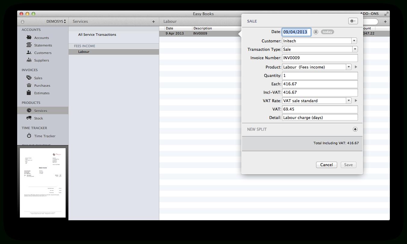 Vat Spreadsheet For Small Business Intended For Easy Books For Mac  Easy Books