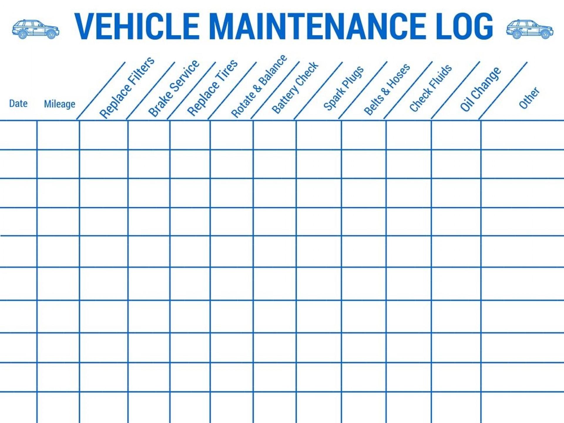 vehicle maintenance tracking spreadsheet spreadsheet