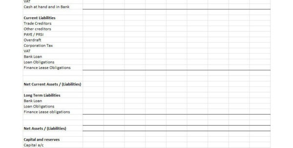 Vendor Comparison Spreadsheet Template Regarding 38 Free Balance Sheet Templates  Examples  Template Lab