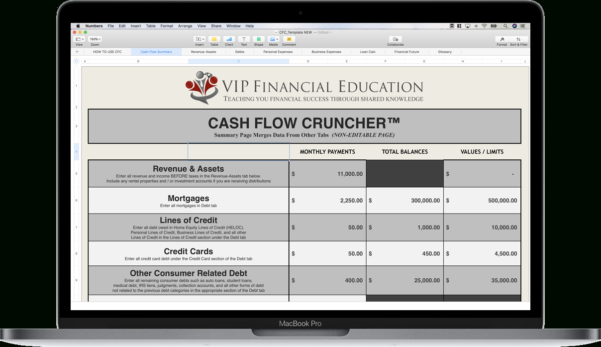 Vip Financial Education Spreadsheet Download Spreadsheet