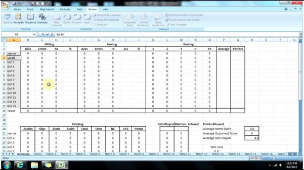 Volleyball Statistics Excel Spreadsheet Regarding Statistics Excel Spreadsheet Baseball Stats Template Awesome