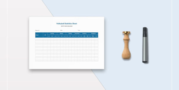 Volleyball Statistics Excel Spreadsheet Regarding Volleyball Stat Sheet Template In Word, Excel, Apple Pages, Numbers