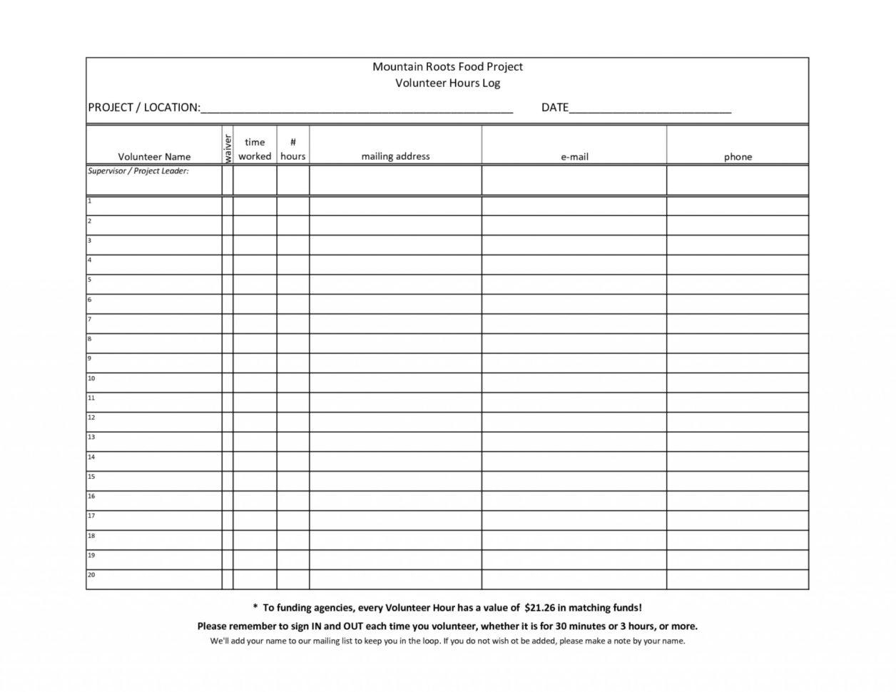Volunteer Spreadsheet Excel Inside 015 Template Ideas Volunteer Hours Log Time Excel Awesome Best