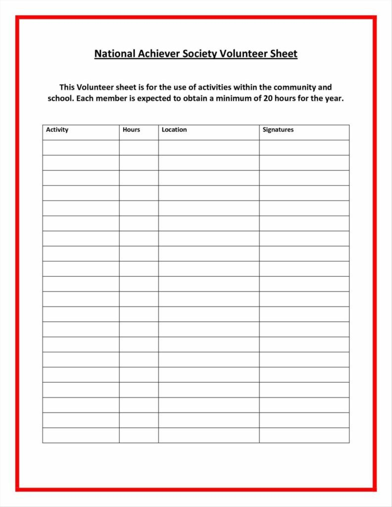 Volunteer Spreadsheet Template Pertaining To Example Expense Report And Images Of Printable Hours Log Volunteer