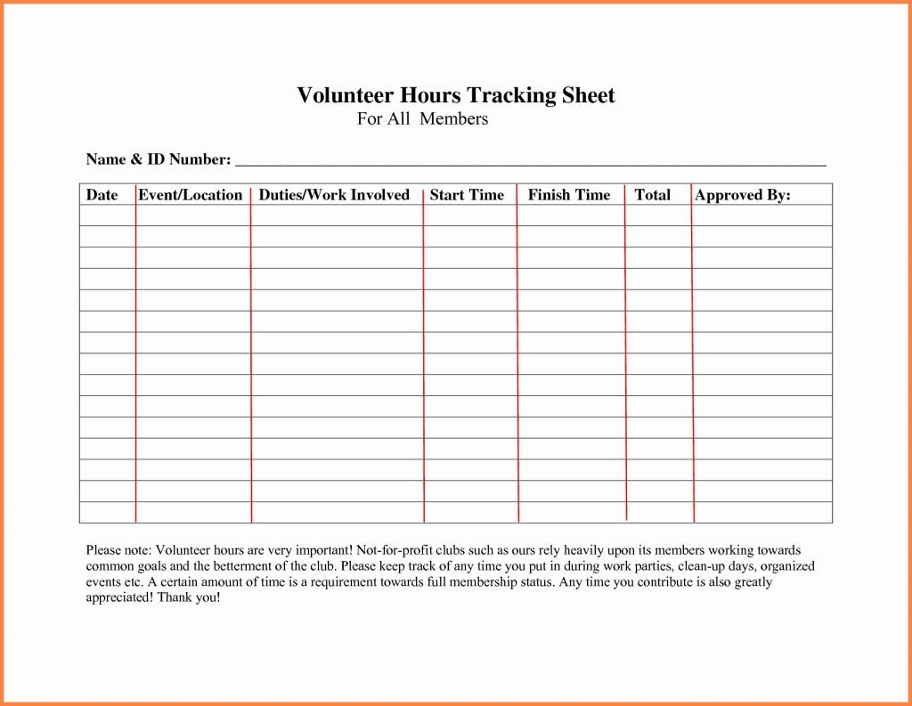 Volunteer Spreadsheet Template With Volunteer Tracking Spreadsheet  Aljererlotgd