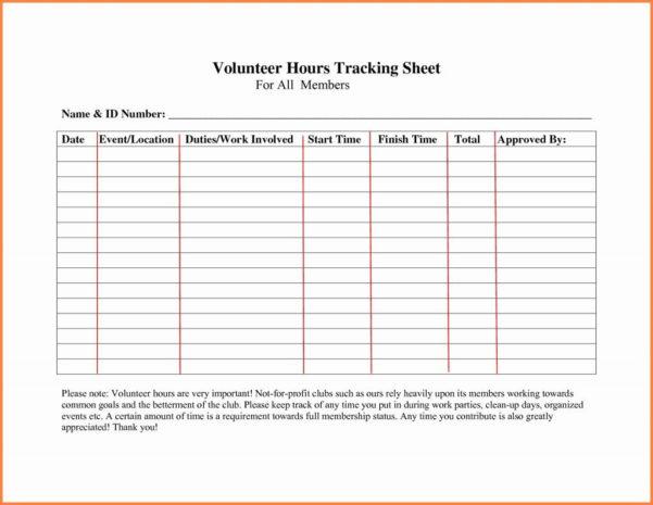 Volunteer Tracking Spreadsheet Template For Volunteer Tracking Spreadsheet  Aljererlotgd