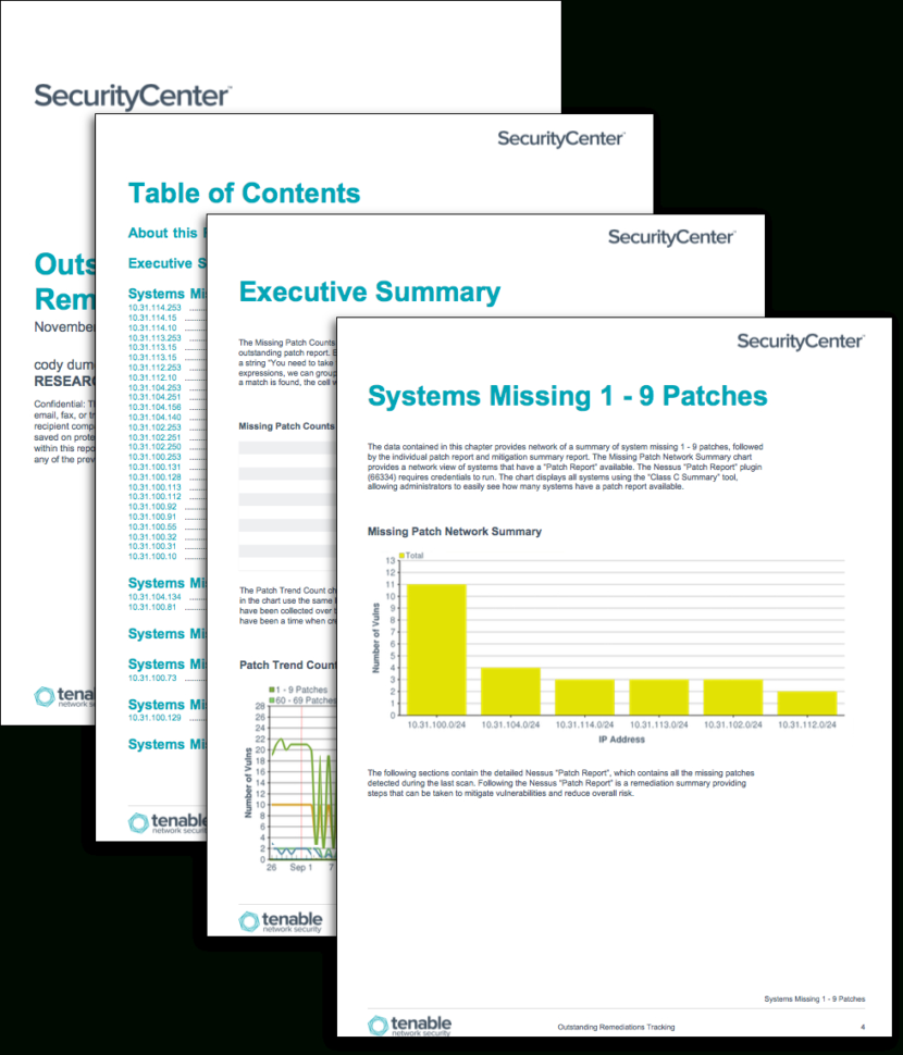 Vulnerability Tracking Spreadsheet In Outstanding Remediations Tracking  Sc Report Template  Tenable®