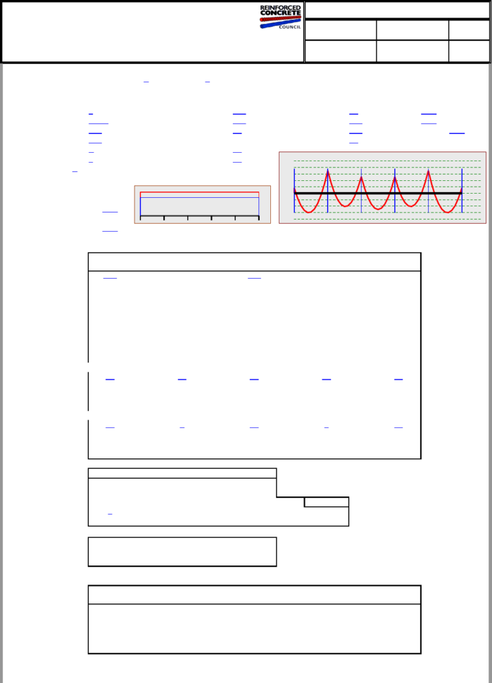 Waffle Slab Design Spreadsheet In Ribbed Slab Design To Bs 81101997 Using Table 3.12 Coefficients.xls