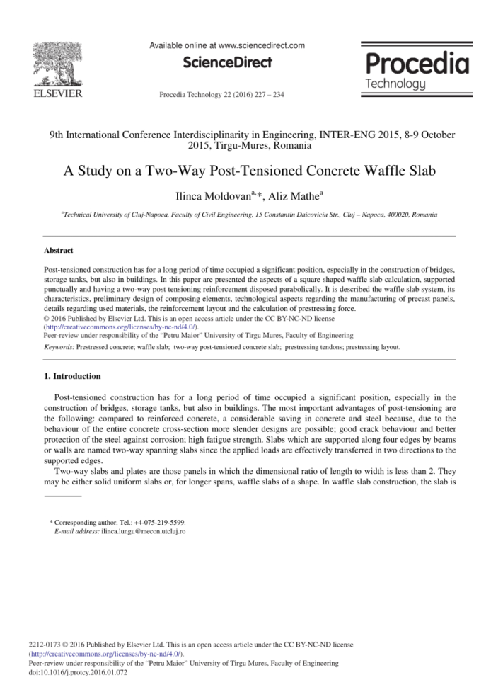 Waffle Slab Design Spreadsheet Pertaining To Pdf A Study On A Twoway Posttensioned Concrete Waffle Slab