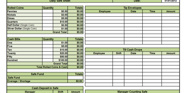 Waitress Tip Spreadsheet Inside Cash Out Form Template Filename  Elsik Blue Cetane