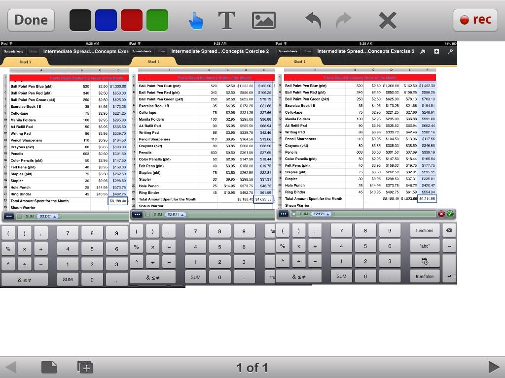 Warriors Schedule Spreadsheet Within Spreadsheet Excersizes Shaun Warriors Digital Portfolio Basic For