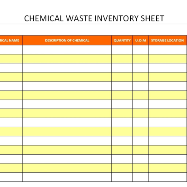Waste Inventory Spreadsheet For Chemical Inventory Template Excel Spreadsheet Database Sheet