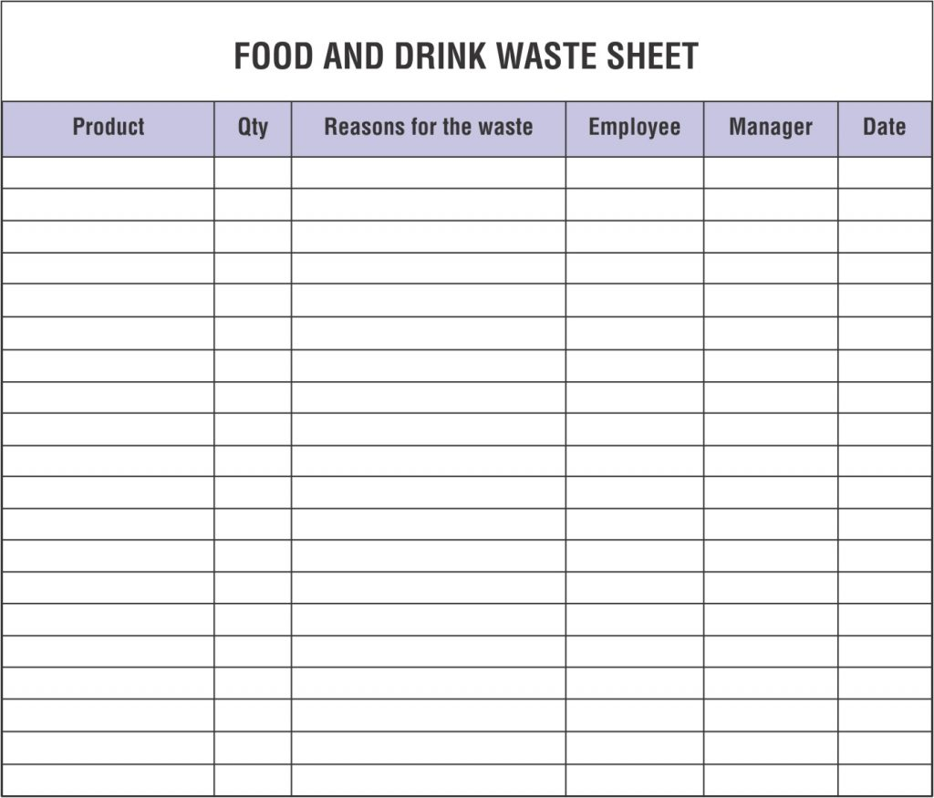 Waste Inventory Spreadsheet Inside Food Inventory Spreadsheet Controlling Unwanted Kitchen Waste Must