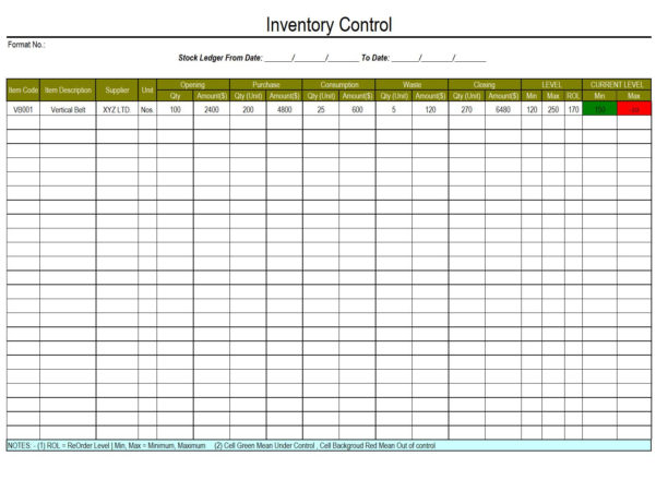 Waste Inventory Spreadsheet With Regard To Inventory Control Worksheet  Oaklandeffect