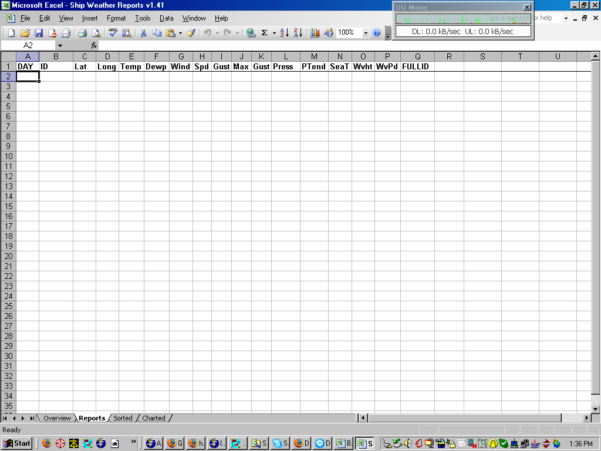 Weather Forecast Excel Spreadsheet With Ship Weather Reports