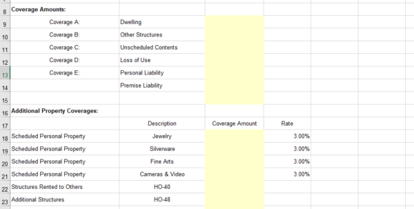 Web Based Excel Spreadsheet With Regard To Insurance Spreadsheets Rating Quoting