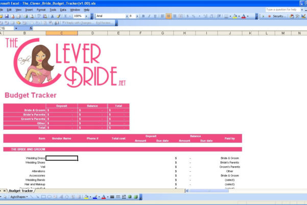 Wedding Budget Breakdown Spreadsheet For Smartly Wedding Budget Summary Budget Calculator Wedding Budget