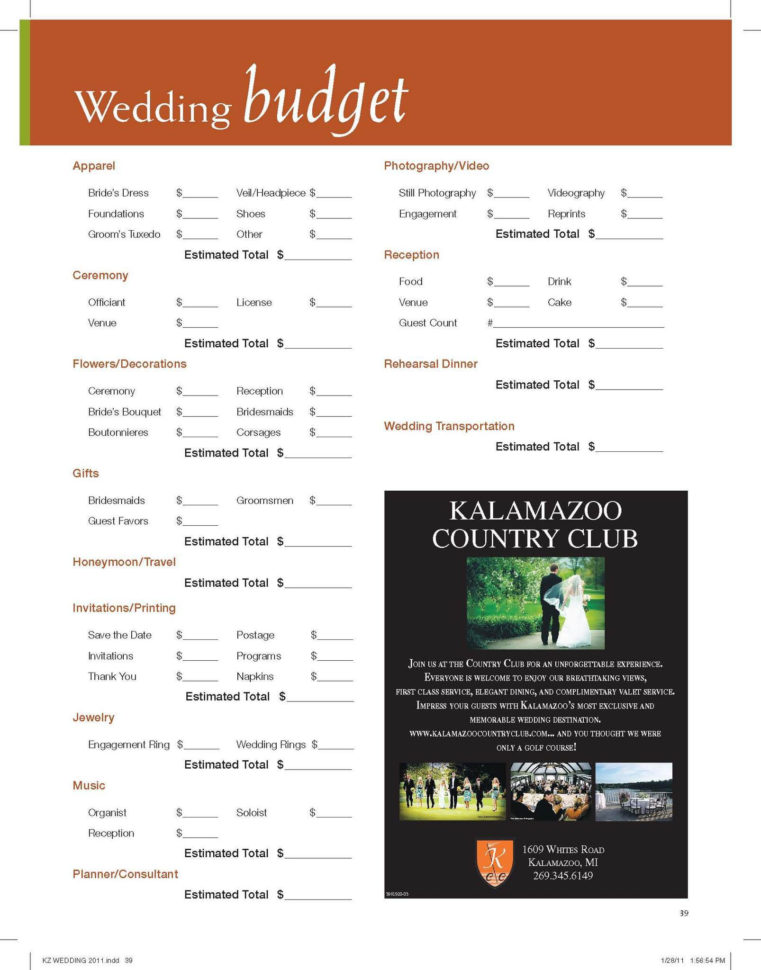 Wedding Budget Breakdown Spreadsheet For Use Our 'wedding Budget' Worksheet To Assist You In Planning For