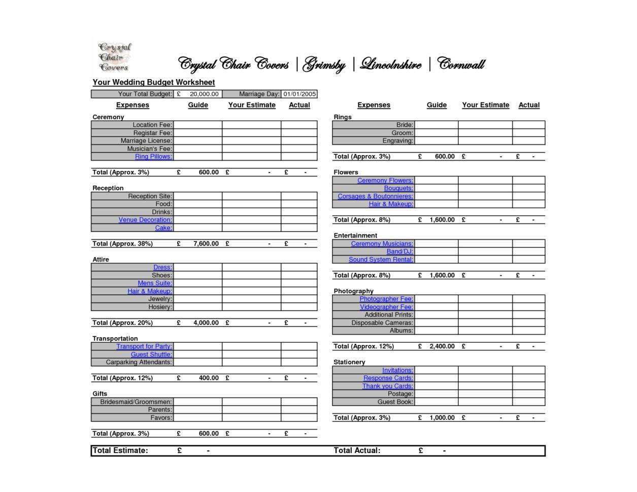 Wedding Budget Breakdown Spreadsheet Inside Best Wedding Budget Spreadsheet  Homebiz4U2Profit