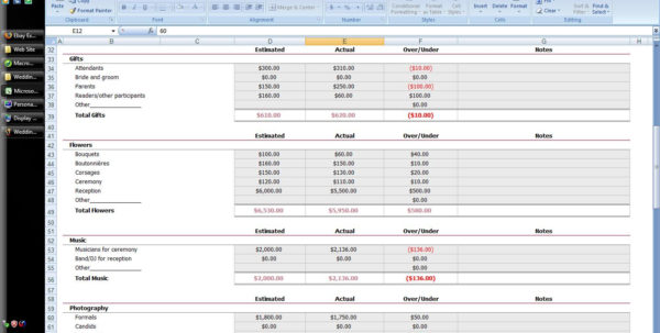 Wedding Budget Calculator Spreadsheet In 132938 1 Spreadsheet Example Of Wedding Budget Calculator Guest List