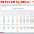 Wedding Budget Calculator Spreadsheet In Wedding Budget Cost Calculator Excel Spreadsheet Template  Etsy