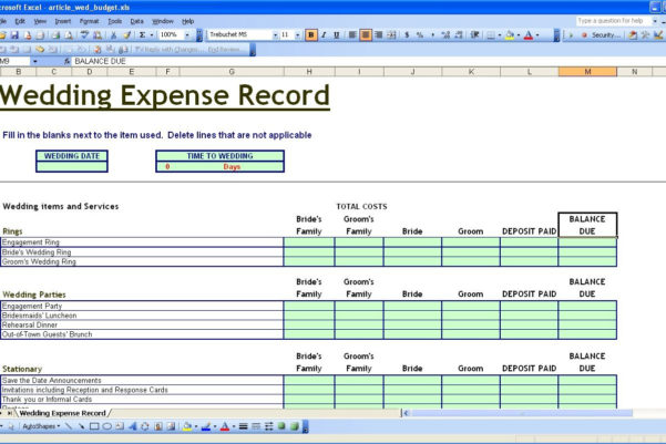 Wedding Budget Excel Spreadsheet In Lummy Wedding Budget Planner Template Template Expense Spreadsheet