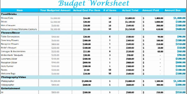 Wedding Budget Excel Spreadsheet Intended For Stirring Wedding Budget Template Excel ~ Ulyssesroom