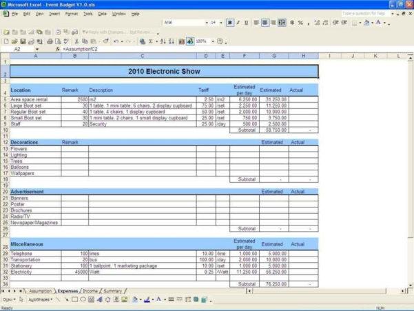 Wedding Budget Excel Spreadsheet With Wedding Budget Sample Spreadsheet  Rent.interpretomics.co