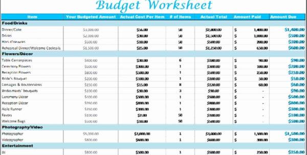 Wedding Budget Planner Spreadsheet In Spreadsheet Example Of Wedding Planner Budget Planning Excel