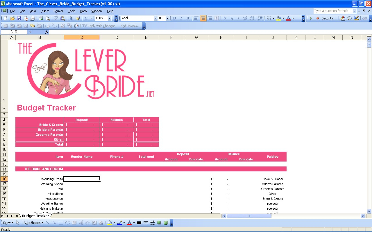 Wedding Budget Planner Spreadsheet Uk Throughout 15 Useful Wedding Spreadsheets – Excel Spreadsheet