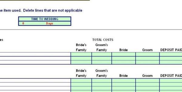 Wedding Budget Planner Spreadsheet With Regard To Budget Planning Spreadsheet Planner Printable Worksheet Free Uk