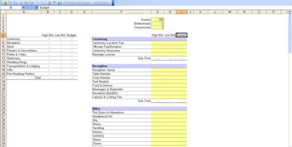Wedding Budget Spreadsheet For 20K Intended For Wedding Expense Spreadsheet Budget For 20K Australia Template Google