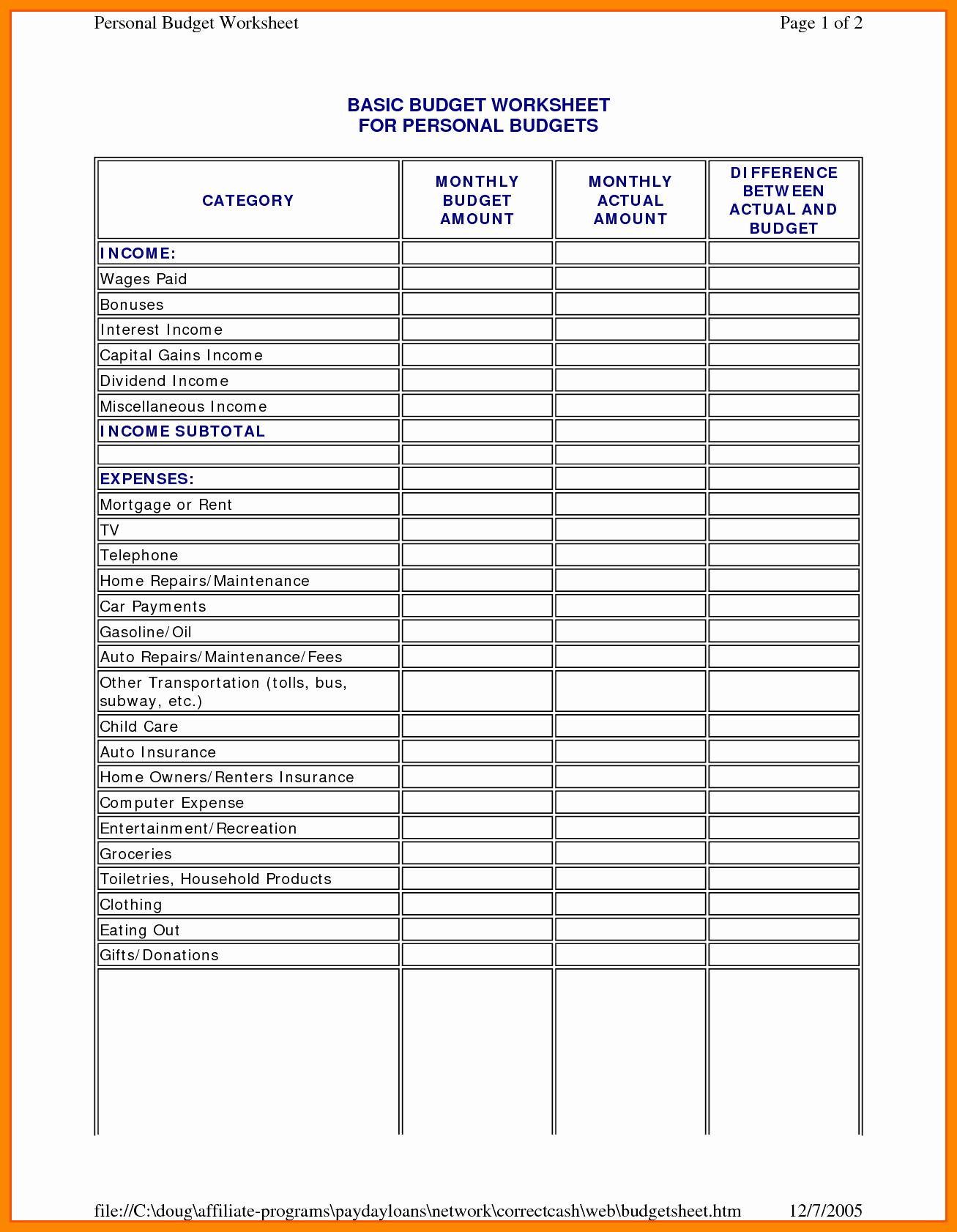 Wedding Budget Spreadsheet Pdf Intended For Printable Wedding Budget Spreadsheet Sample Worksheets