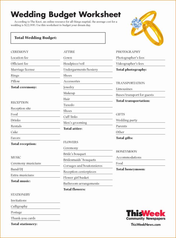 Wedding Budget Spreadsheet Pdf Throughout Printable Weddingt Spreadsheet Luxury Endearing Lovely Bud Worksheet