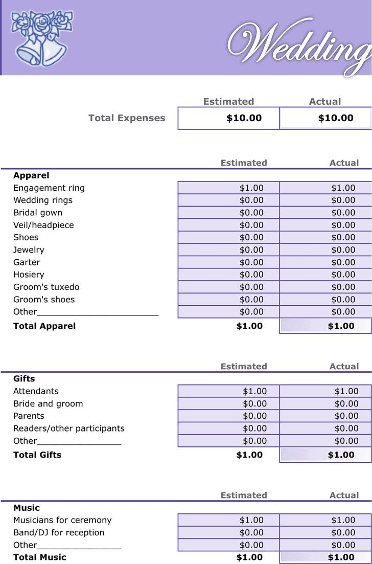 Wedding Budget Spreadsheet Pdf With Regard To Wedding Budget Sample Spreadsheet Vatoz Atozdevelopment Co Checklist