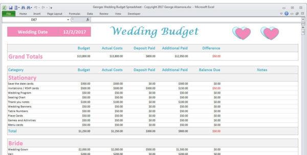 Wedding Budget Spreadsheet Uk Throughout Wedding Budget Worksheet Template Planner Example Of Spreadsheet Wedding Budget Spreadsheet Uk Google Spreadsheet