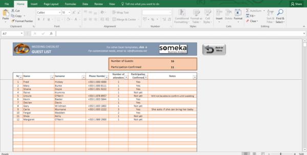 Wedding Checklist Spreadsheet Regarding Wedding Checklist  Excel Template For Wedding Planning