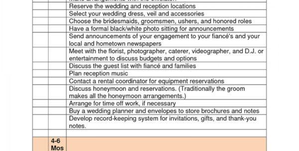 Wedding Checklist Spreadsheet Throughout Dreaded Free Printable Wedding Planner Templates ~ Ulyssesroom