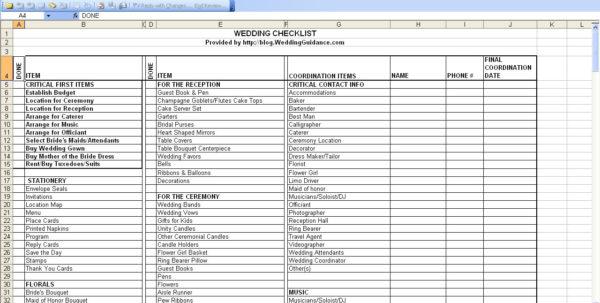 Wedding Checklist Spreadsheet Throughout Wedding Planning Checklist Spreadsheet – Spreadsheet Collections