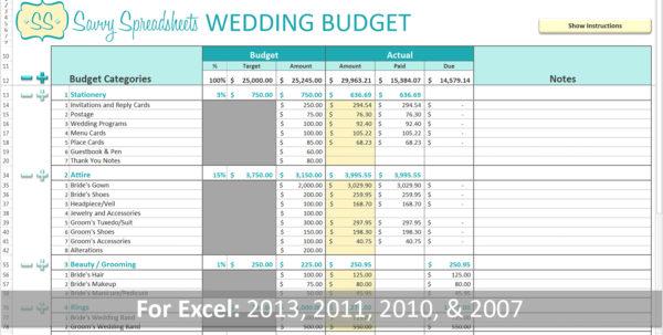 Wedding Cost Spreadsheet Inside Wedding Cost Spreadsheet  Aljererlotgd