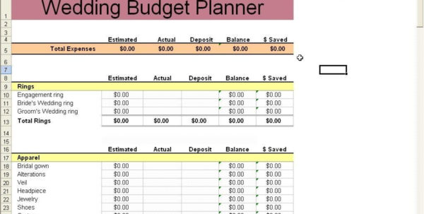Wedding Cost Spreadsheet Template In Wedding Cost Spreadsheet Easy Budget Turquoise Excel Template Screen