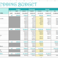 Wedding Cost Spreadsheet Template Throughout Wedding Budgets Excel  Sasolo.annafora.co