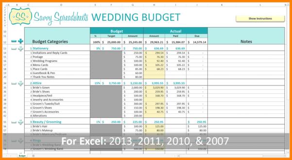 Wedding Expense Excel Spreadsheet Inside 8  Wedding Budget Excel Spreadsheet  Credit Spreadsheet